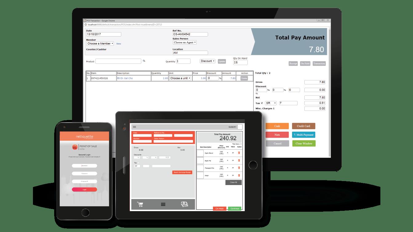 POS System | Netiquette Software Singapore